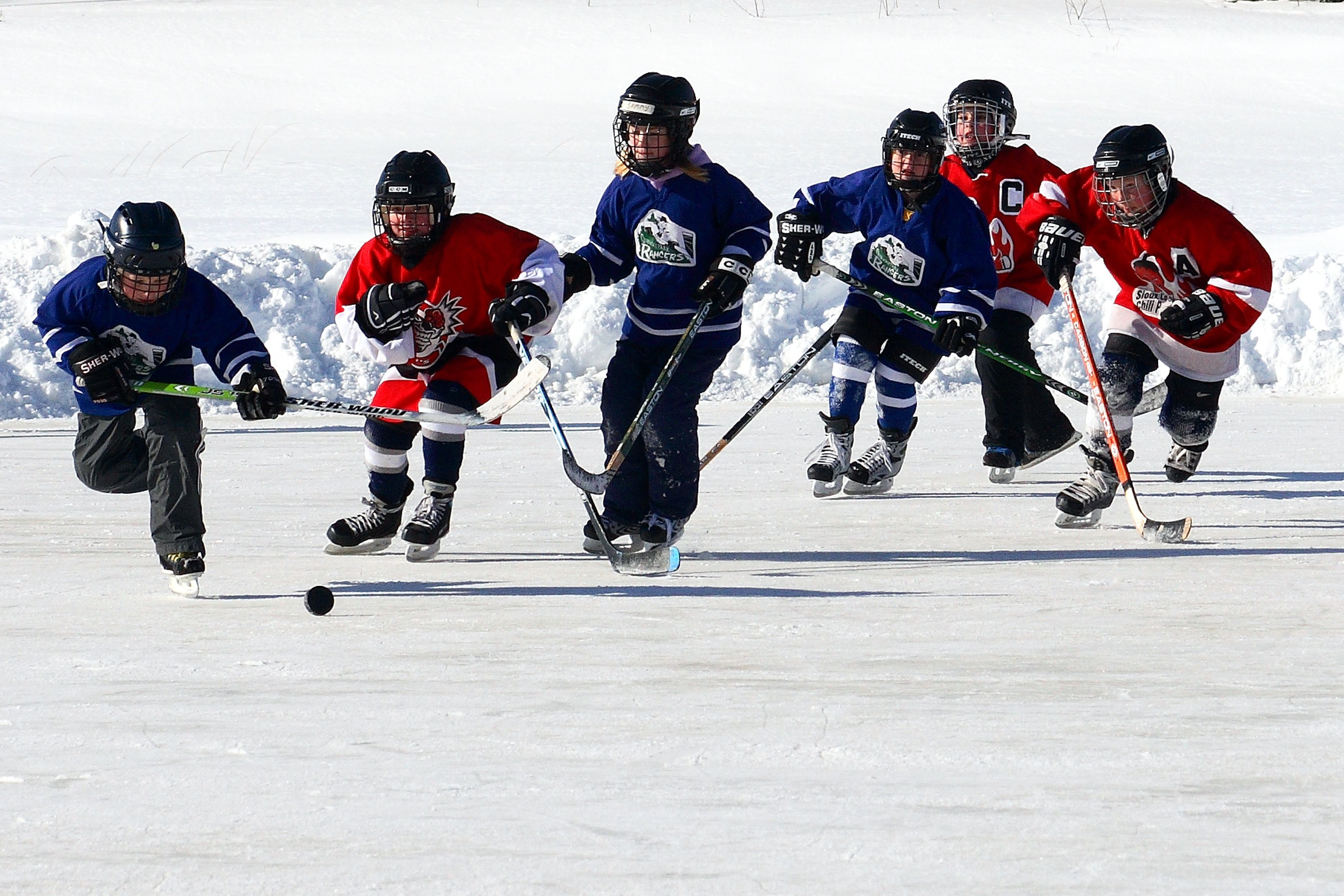 This Was The Best Playing Hockey Outside For Hours Hockey Kids Youth Hockey Hockey