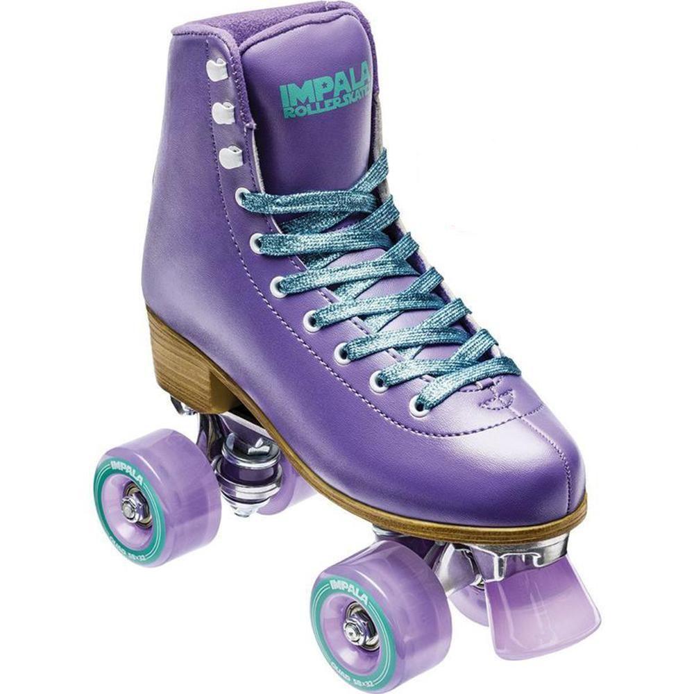 Impala Quad Skate Purple Size 8 Quad Skates Roller Skates Speed Laces