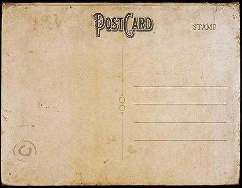 Vintage Postcard Template Front Vintage Postcard Template  Great