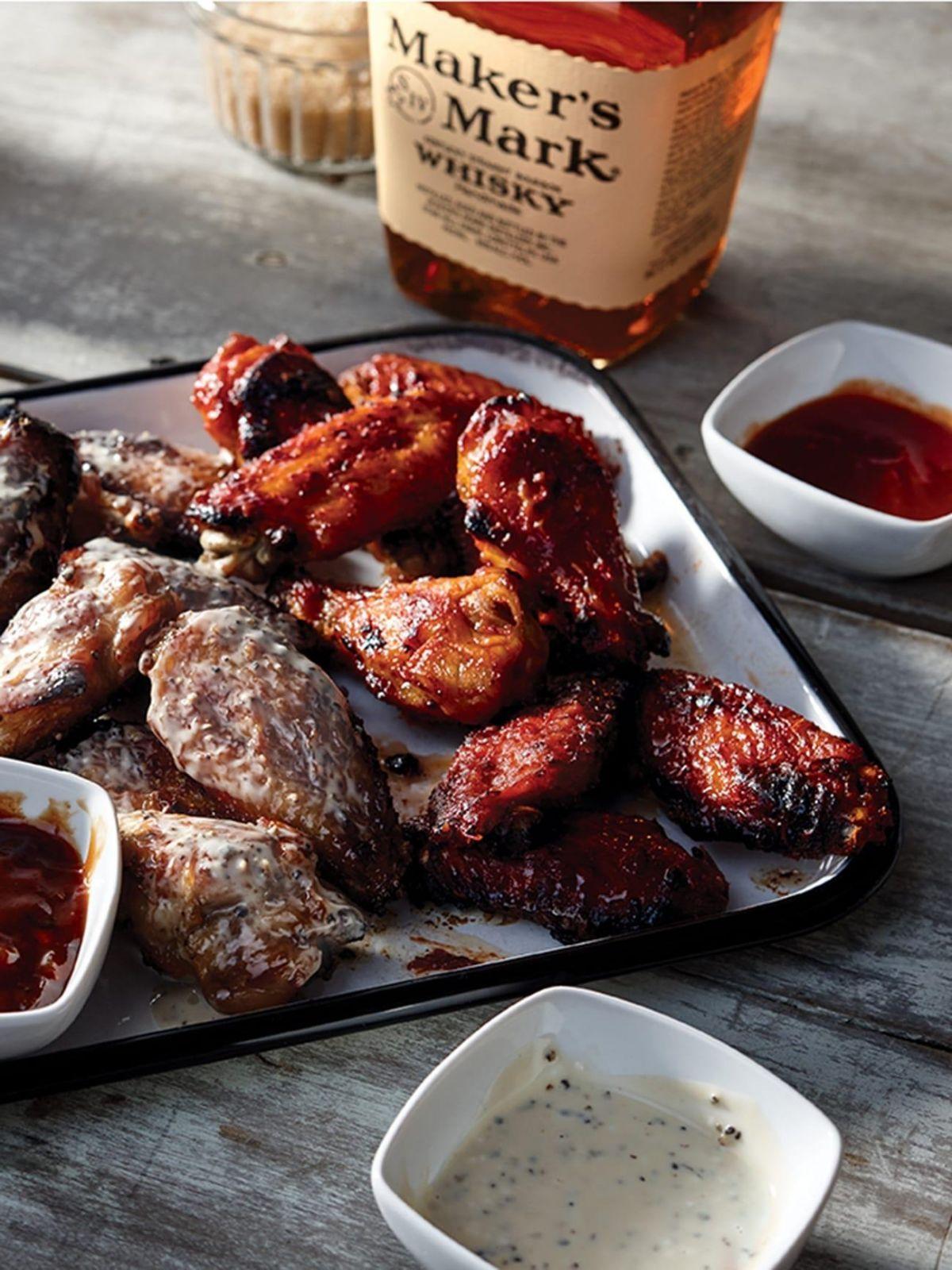 Maker S Mark Food Bourbon Chicken Wings Bourbon Chicken Chicken Wings Smoked Food Recipes