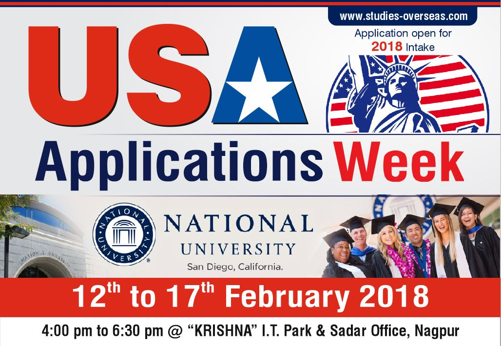 Attend Usa Applications Week And Get A Chance To Meet Apply For National University San Diego California Date 12 To 17th Fe University Application Week