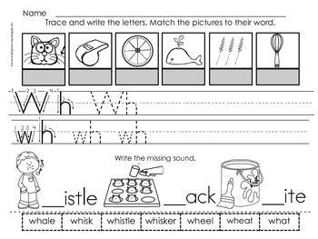 Wh Digraph Worksheets Digraphs Worksheets Wh Digraph Worksheets Digraph Wh worksheets for kindergarten