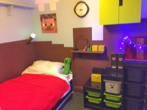 Captivating Minecraft Themed Bedroom | PortWings.com