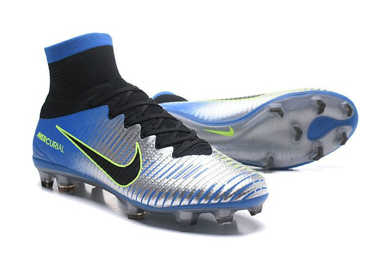 0f16da80ad2 Cheap Men 2018 Nike Mercurial Superfly V SX Neymar FG Racer Blue Black  Silver Grey