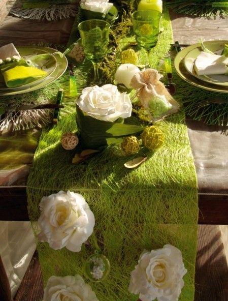 Chemin De Table Abaca Couleur 5 M Achat Chemin De Table Abaca Pas Cher Chemins De Table Deco Naturelle Et Idee Decoration Mariage