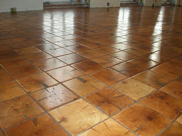 Log End Flooring End Grain Floors Made From Reclaimed Pine Beams