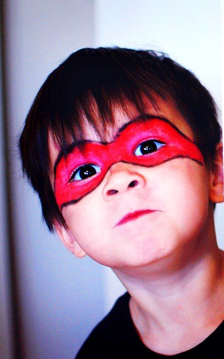 Turtle red | Face painting | Mask face paint, Face painting
