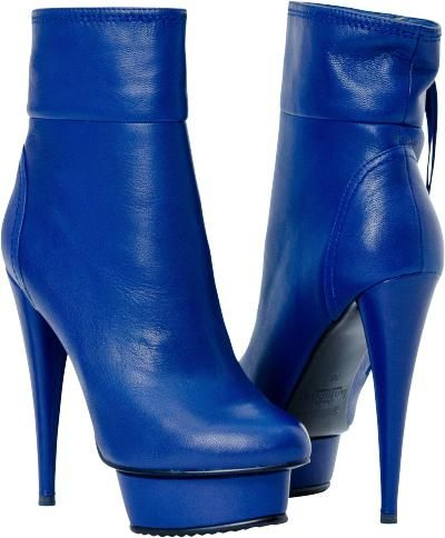 Royal Blue Ankle Boot | Boots, High