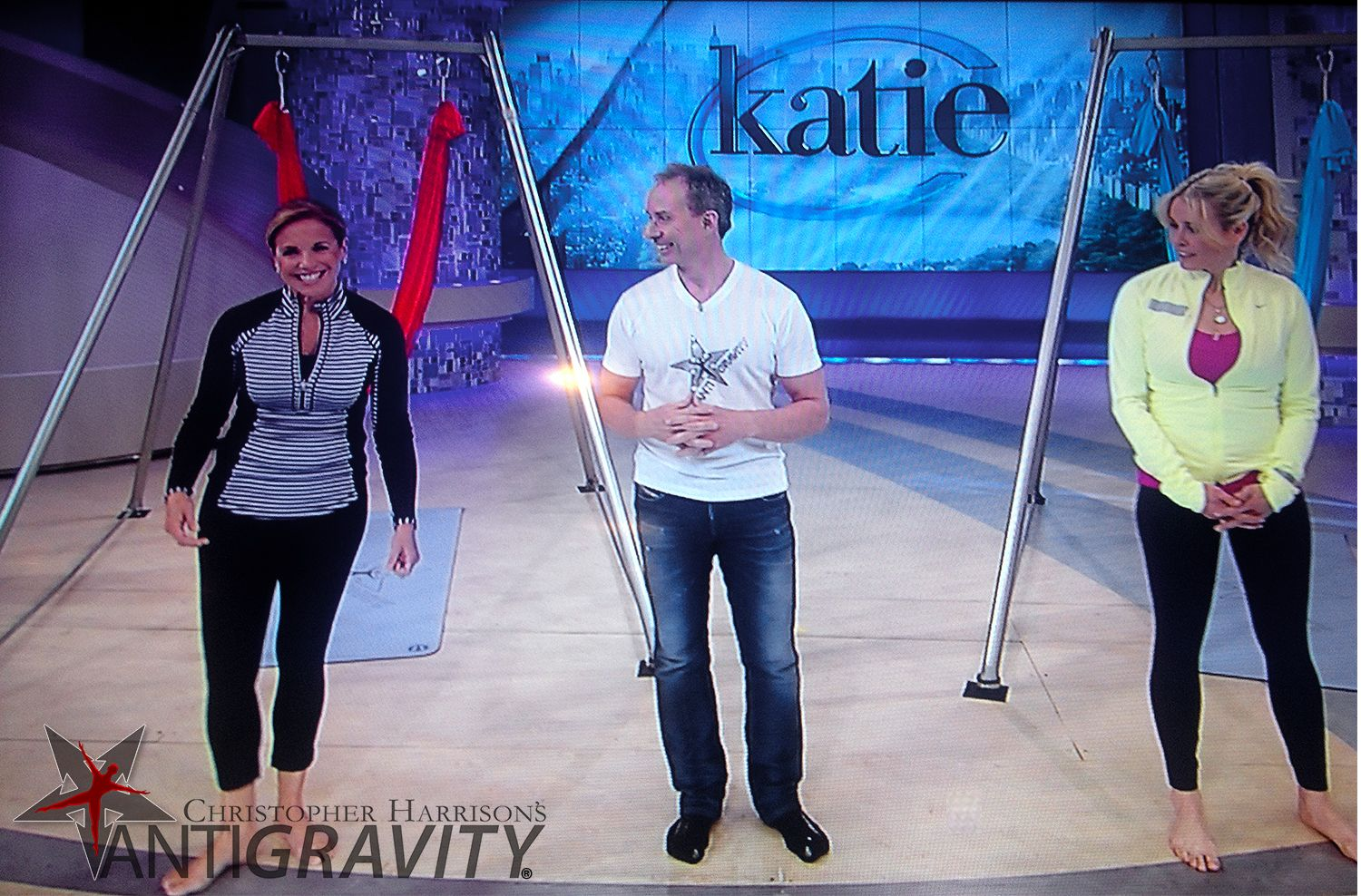 AntiGravity® founder Christopher Harrison turns Katie Couric and Chelsea Handler upside down!