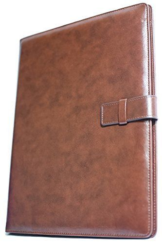 Evan} Professional Leather Business Resume Portfolio Folder - resume portfolio folder