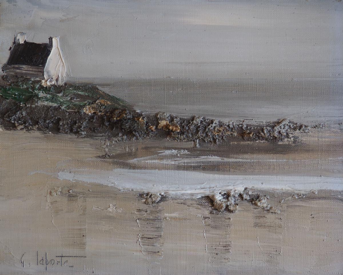 Georges Laporte Bretagne Cote Sauvage 21x27cm Art Landscape