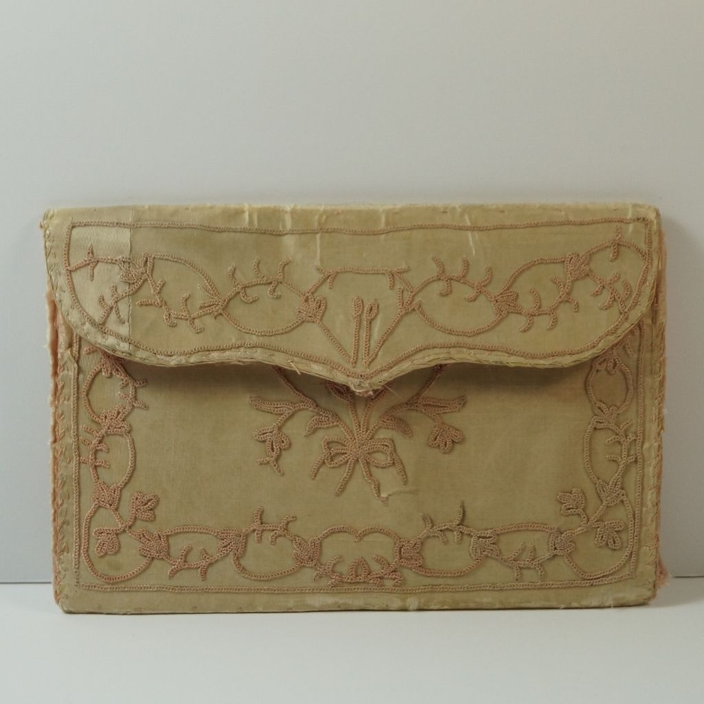 Antique Silk Purse Pocketbook Letter Case 18th Century Georgian