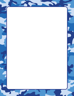 Blue Camouflage Border Page Borders Printable Border Borders