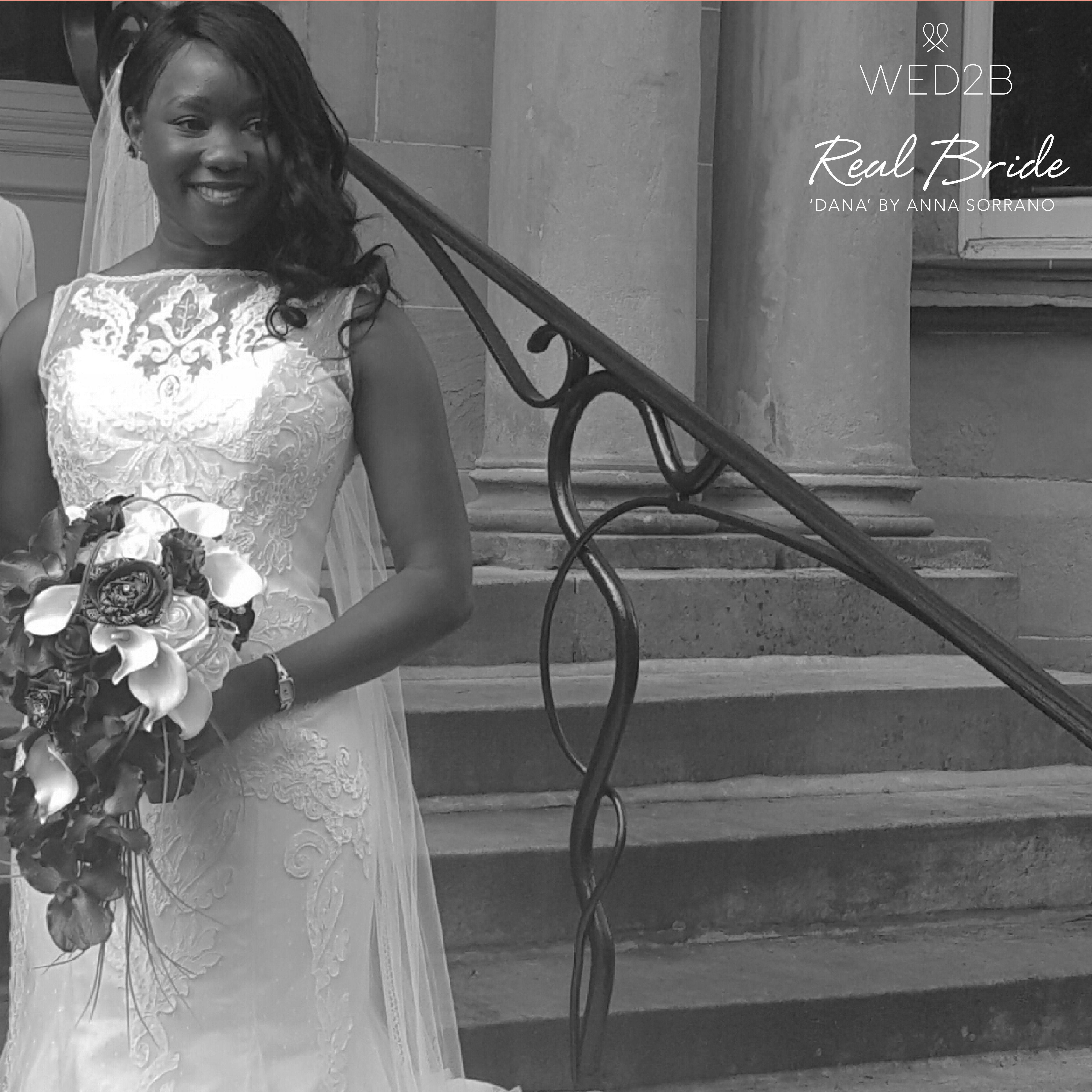 Real Brides Wed2b: Real Bride Tsitsi Looks Amazing In 'Dana' By Anna Sorrano