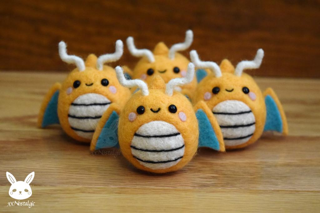 [Preorder] Felted Dragonites! by xxNostalgic.deviantart.com on @DeviantArt