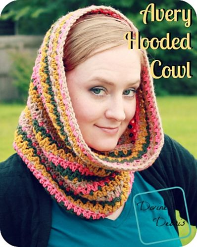 Avery Hooded Cowl Pattern By Divine Debris Hooded Cowl Ravelry