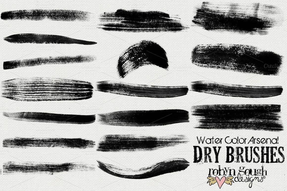 Brushstrokes print resource