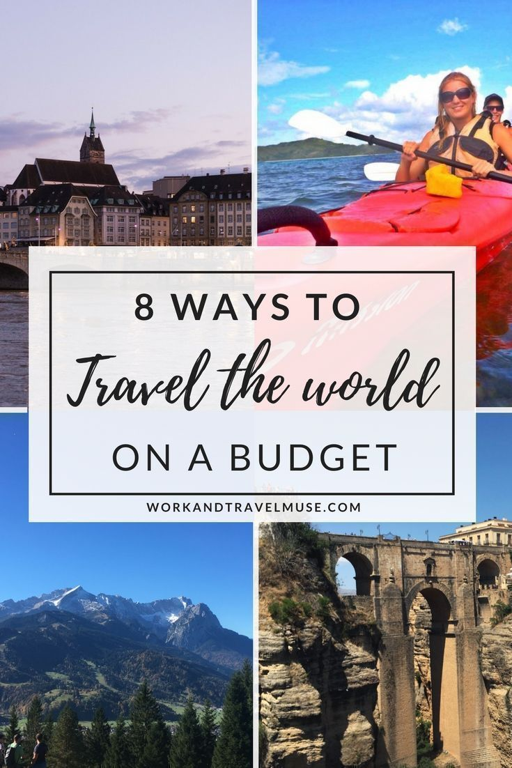 8 ways to travel the world on a budget. Travel cheap and still have a great time with these awesome travel tips #traveltipscheap #budgettravel #traveltheworldcheap #travelingonabudget #worldtraveltips