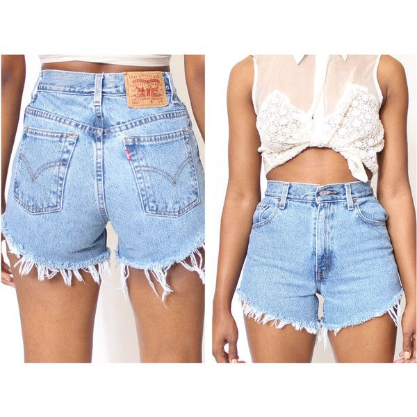 b278c4f0b0a8 All Sizes Cut Off Levi s Vintage High Waisted Shorts Plus Sizes (56 AUD) ❤  liked on Polyvore featuring shorts