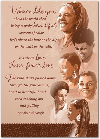 Mahogany Inspiring Women Mother S Day Greeting Cards In Caramel