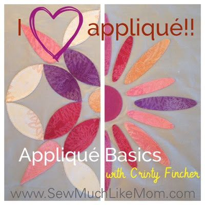 Sew Much Like Mom: Applique is My Favorite: Video Tutorial