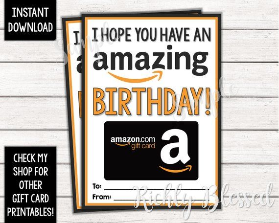 INSTANT DOWNLOAD Amazon Gift Card Birthday Card Holder ...