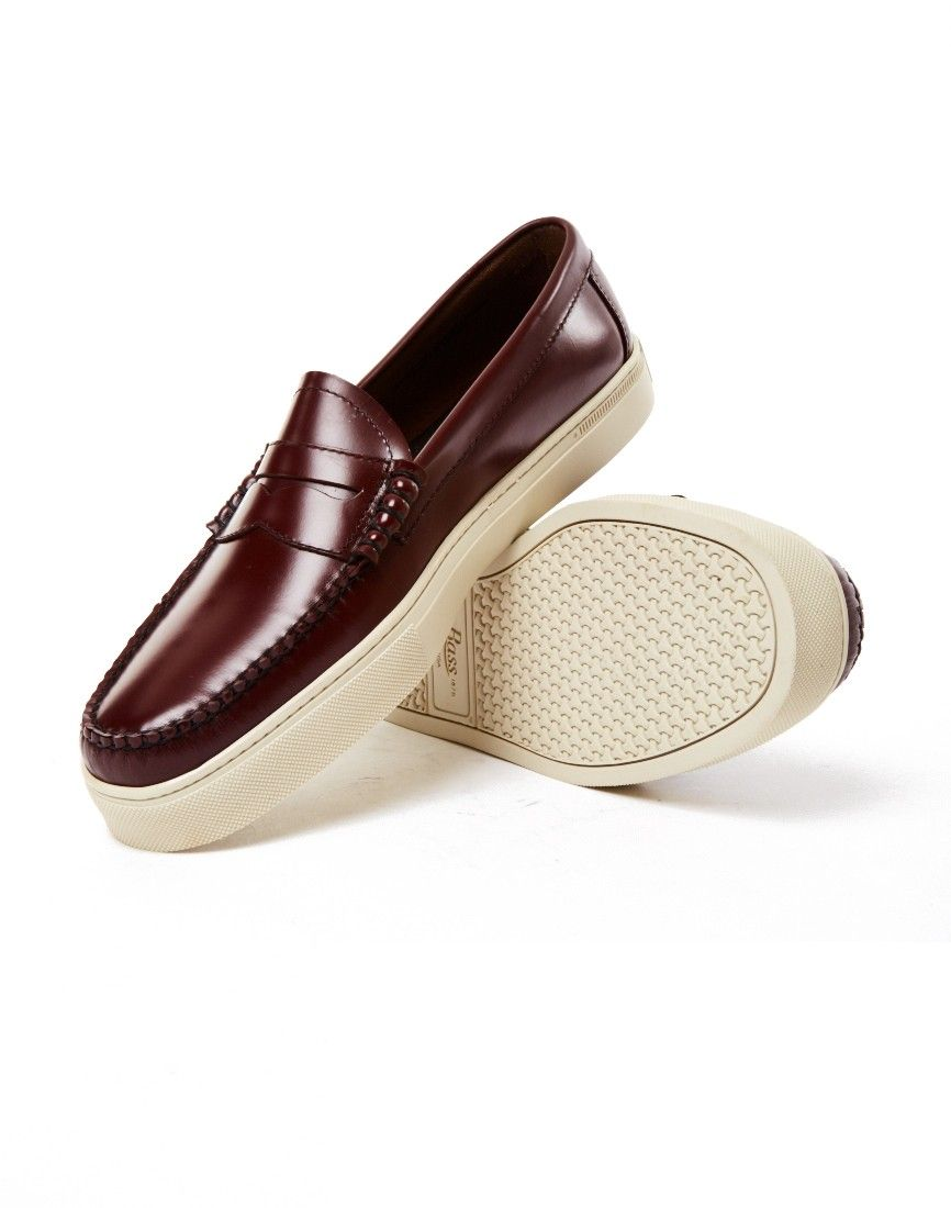 G.H. Bass & Co. Weejun Larson Moc Penny Loafer Burgundy   Shop men's shoes  and