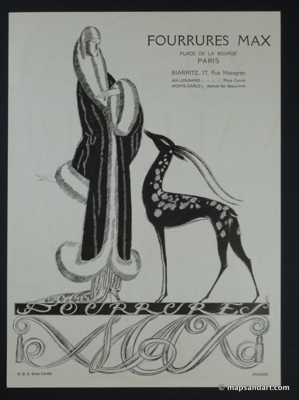 Max Fourrures 1920s L'Illustration