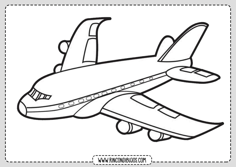 Dibujo De Avion Comercial Pintar Rincon Dibujos Avion Dibujos Aviones Lapices De Dibujo