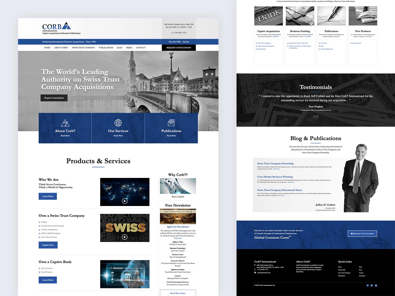 Corb7 International In 2020 Website Design Digital Strategy Digital Agencies