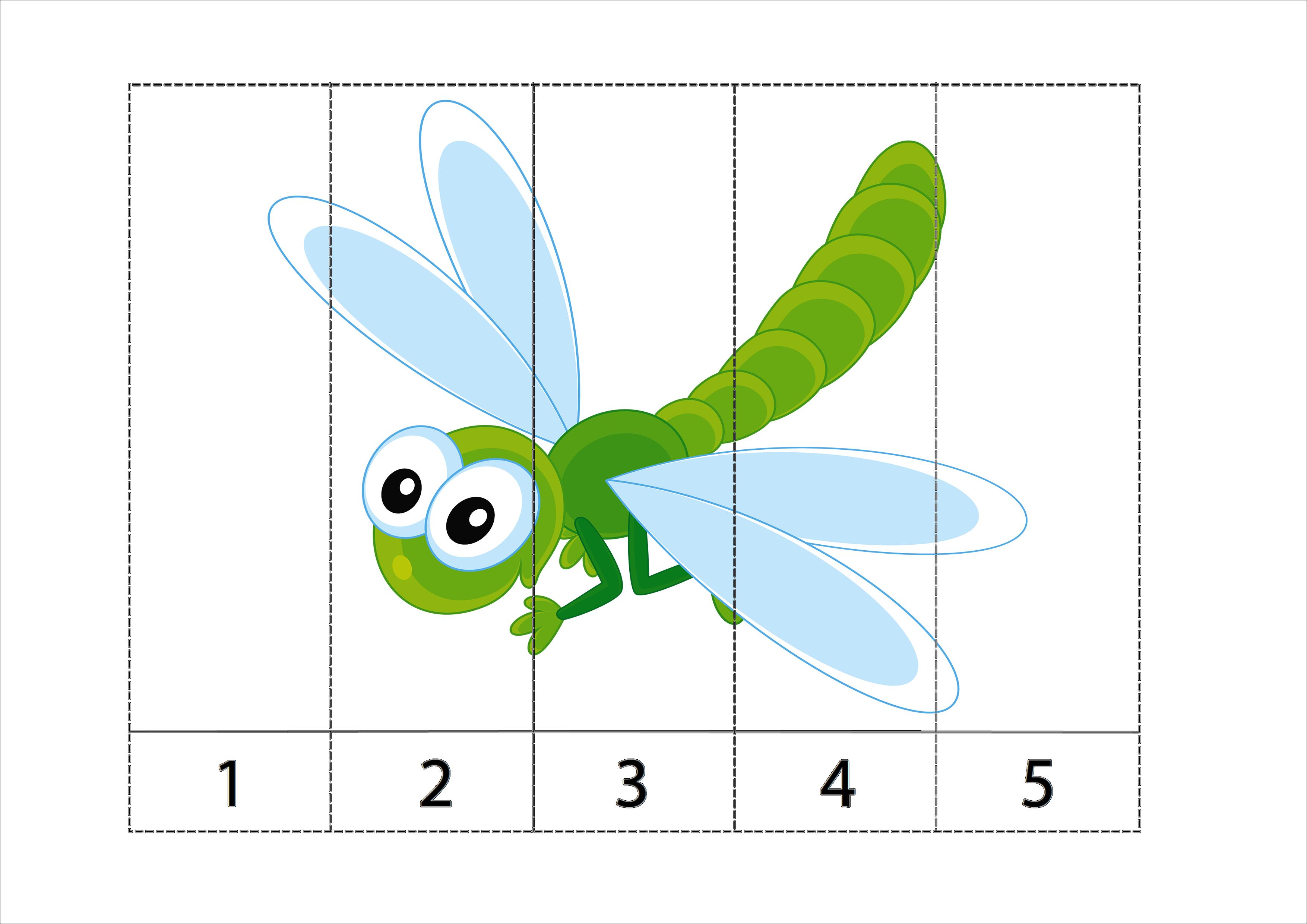 Сложи картинку насекомые, уборка