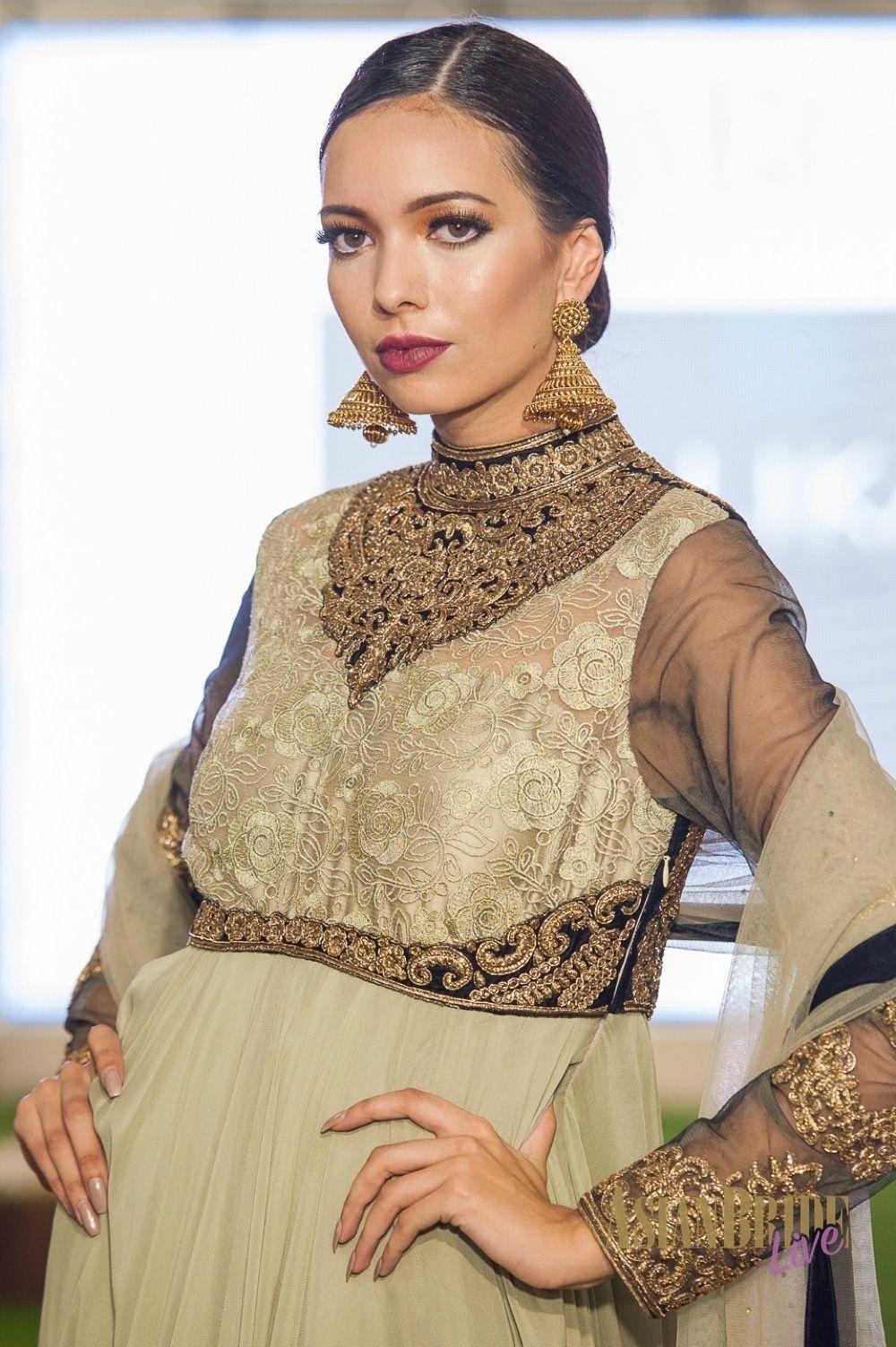 Gold and black bridal lengha dress MalikaINDIANPAKISTANI