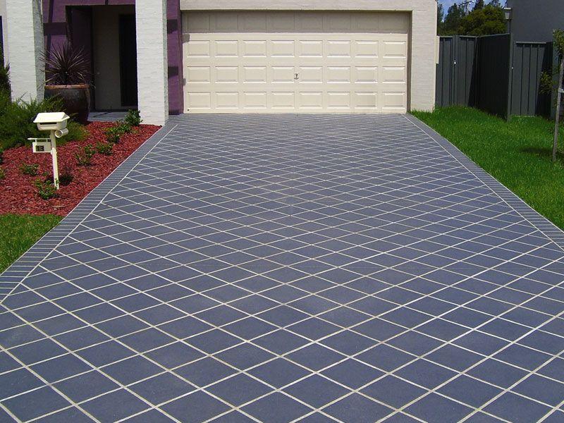 Concrete Paint Effect Paving Design Stencil Concrete Outdoor Flooring