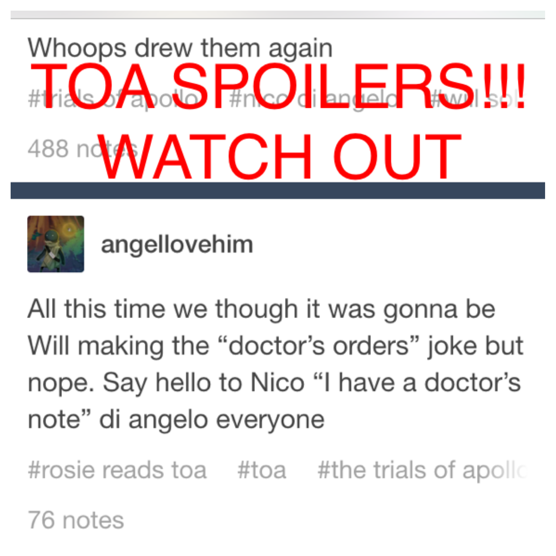 Nico I Have A Doctors Note Di Angelo  The Trials Of Apollo