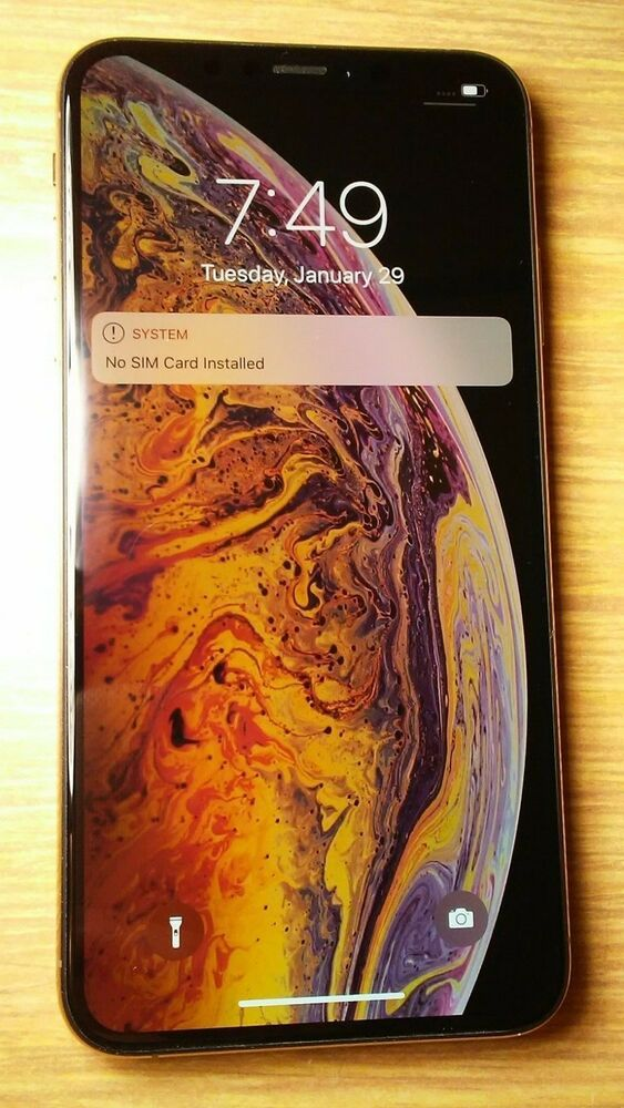 Apple Iphone Xs Max 64gb Gold Att Cricket A1921 Cdma