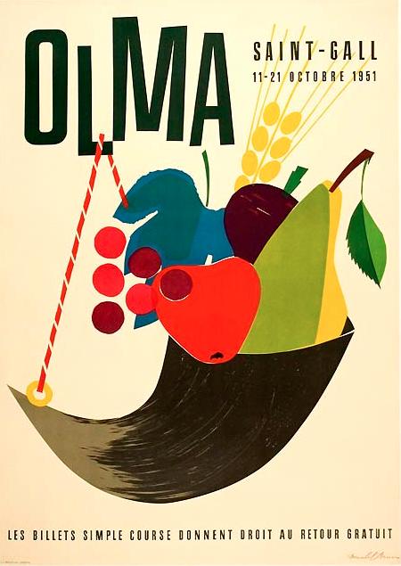 By Donald Brun, 1 9 5 1, Olma, Switzerland.
