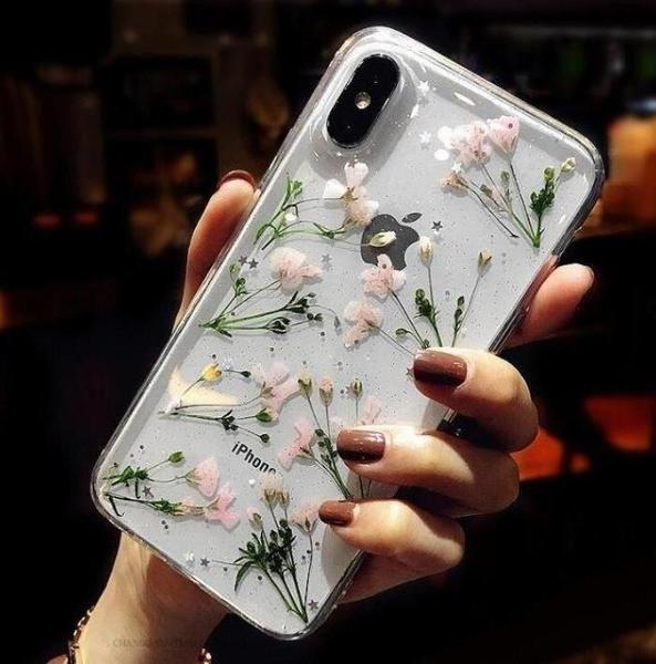 Buy Dried Flowers Soft Transparent Iphone Case korean