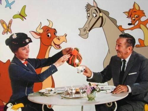 Julie Andrews et Walt Disney
