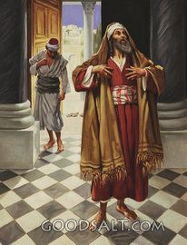 The Pharisee And The Publican Historias Biblicas Pinturas E Figuras