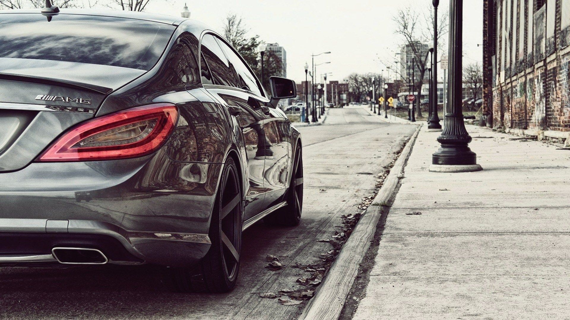 mercedes cls tail light HD Background