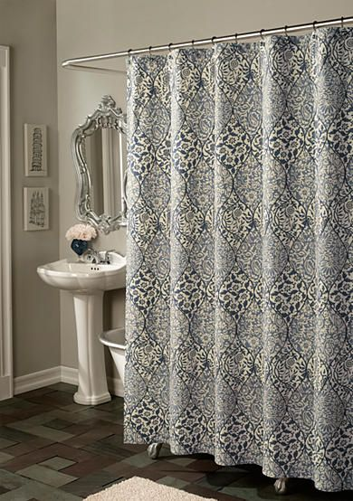M Style Istanbul Blue Shower Curtain Online Only Blue Shower