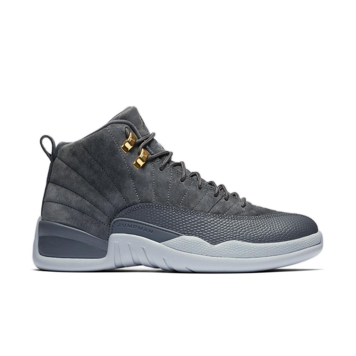 "Jordan Retro 12 ""Wolf Grey"" Men's Shoe Mens grey shoes"
