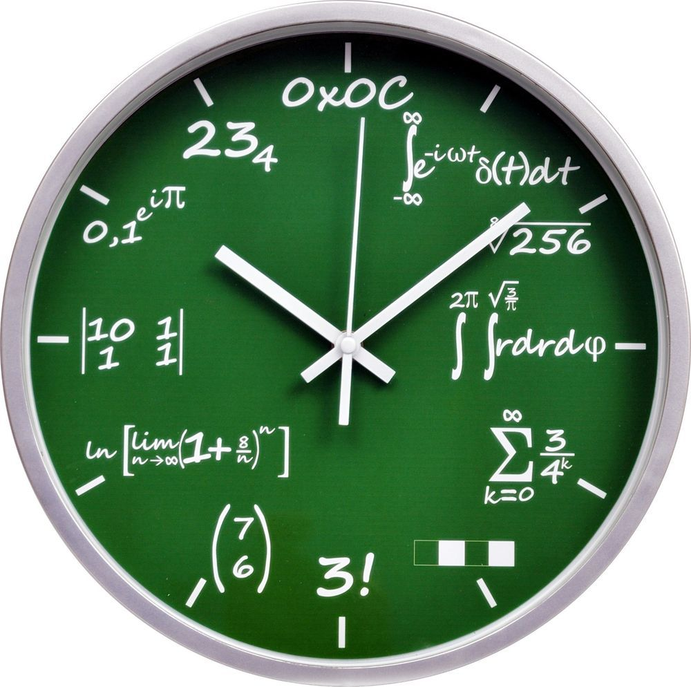 Mathematical Funny And Unique Wall Clock 12 Unique Wall Clocks Wall Clock Clock