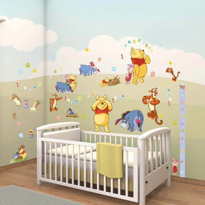 Adesivo murale Set Winnie the Pooh 79 pz   Il mondo dei bambini ...