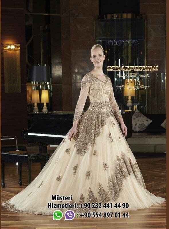 933b5a0bd81c1 BEYAZ PODYUM NİŞANLIK | Bindallı Modelleri | Formal dresses, Fashion ...