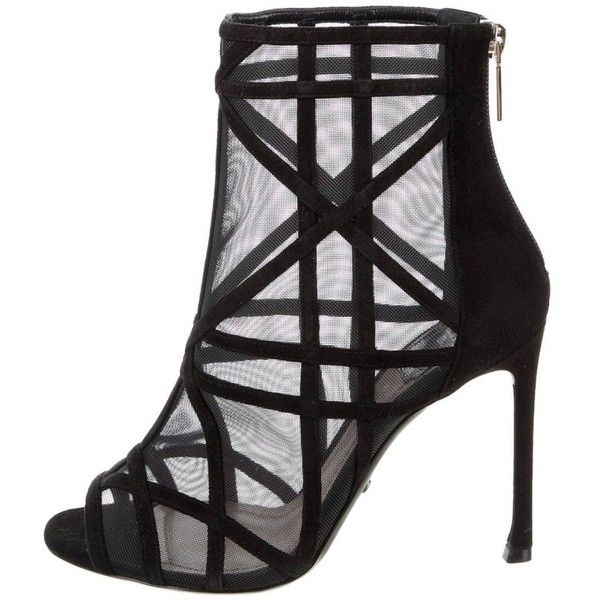Preowned Christian Dior New Negro Ante Cut Cut Cut Out Ankle Botas Botines ddba5a