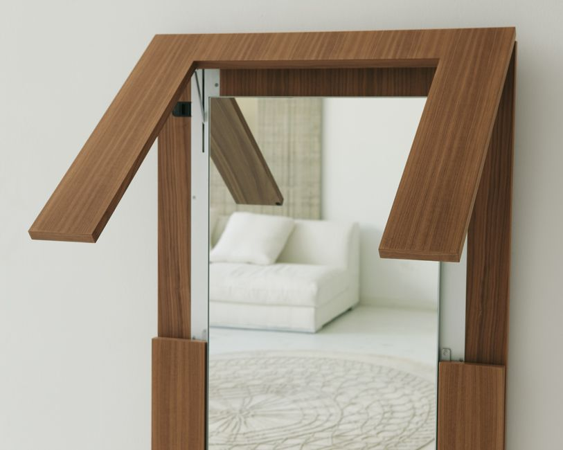 A Large Wall Mirror That Turns Into A Dining Table I Love