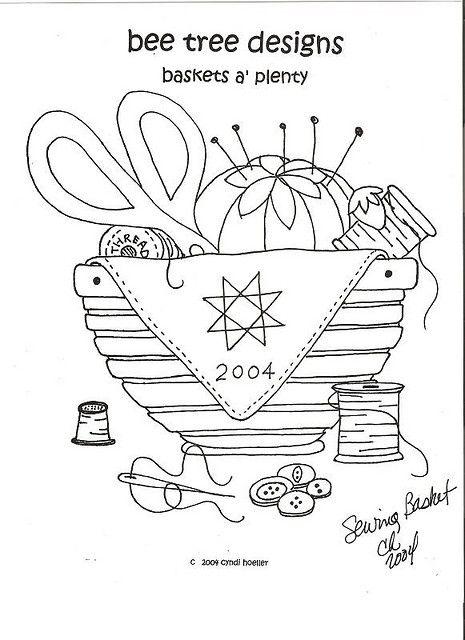 redwork baskets-june by bee tree designs, via Flickr