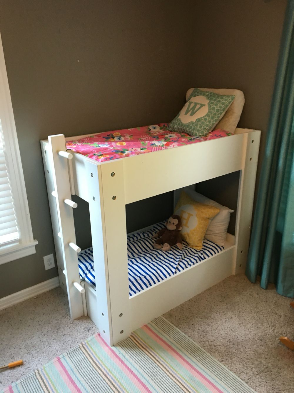 DIY Toddler bunk beds. Total cost: $150 :)