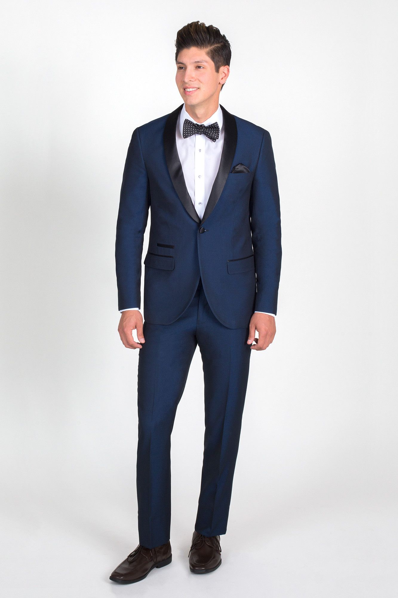 Navy Blue Slim Fit Tuxedo with Black Shawl Lapel   Wedding Ideas ...
